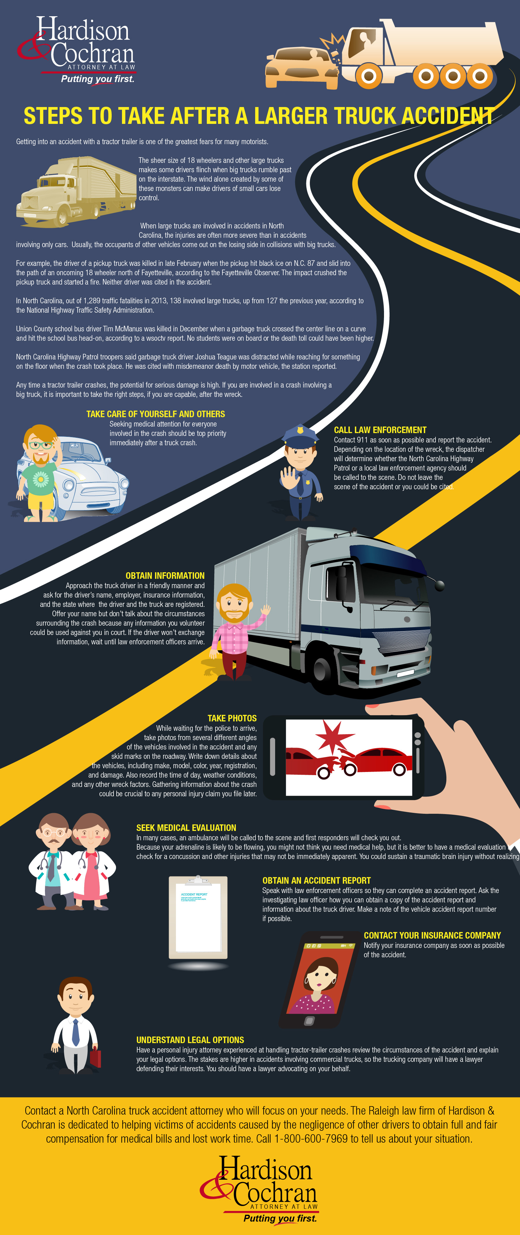 Steps to Take After A Larger Truck Accident