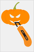 Children should not use knives to carve Halloween pumpkins.