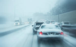 Avoid driving in snow or icy weather if possible.
