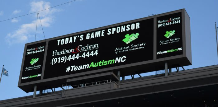 The 2017 Autism Awareness Football Game, sponsored by Hardison & Cochran, features a matchup of the Tar Heels and the University of Virginia Cavaliers on Oct. 14.