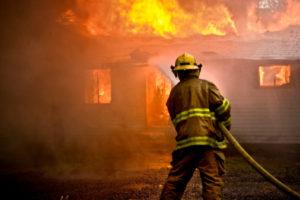 Firefighter responding