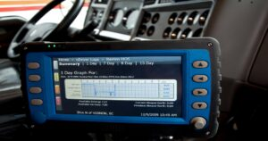 electronic logbook for truck drivers keeps track